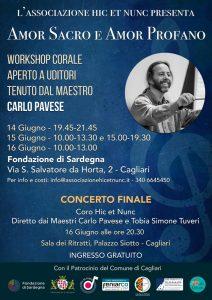 """""""Amor sacro e Amor profano"""": workshop di musica corale con il M°Carlo Pavese"""